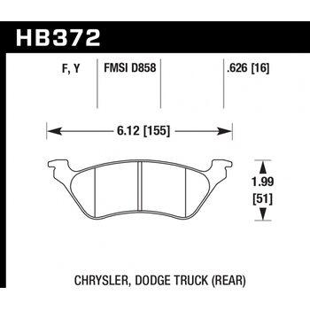 Колодки тормозные HB372F.626 HAWK HPS