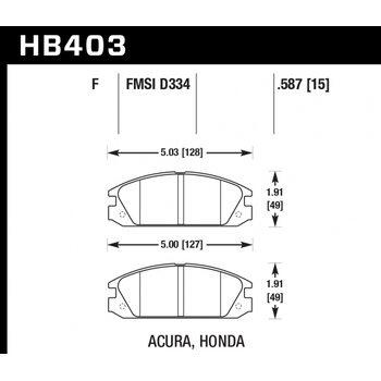Колодки тормозные HB403F.587 HAWK HPS