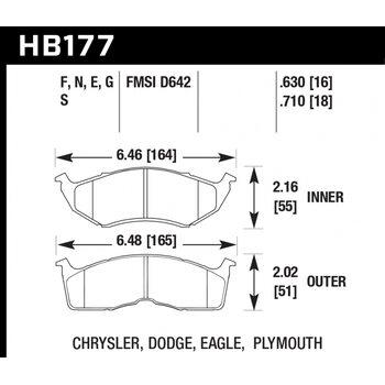 Колодки тормозные HB177N.710 HAWK HP Plus; 18mm