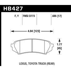 Колодки тормозные HB427Y.685 HAWK LTS задние  LEXUS LX470 / TOYOTA LC100