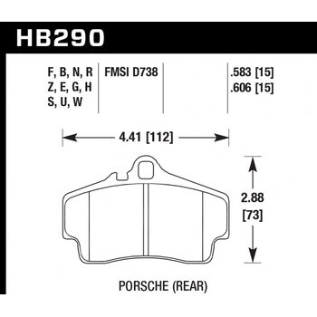 Колодки тормозные HB290R.583 HAWK Street Race; 15mm