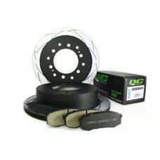 КОМПЛЕКТ ЗАДНИЙ:Тормозные диски DBA 2737S T2+колодки DC brakes sHD Toyota  PRADO  / Lexus GX460