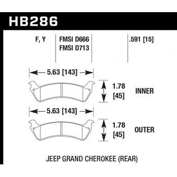 Колодки тормозные HB286F.591 HAWK HPS