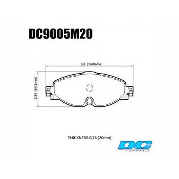 Колодки тормозные DC9005M20 DC brakes Race Track, перед VW GOLF VII; Passat 3G; AUDI TT FV3; A3 8V1