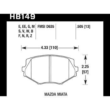 Колодки тормозные HB149Z.505 HAWK Perf. Ceramic
