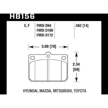 Колодки тормозные HB156F.562 HAWK HPS ; 15mm