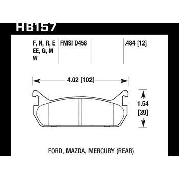 Колодки тормозные HB157F.484 HAWK HPS
