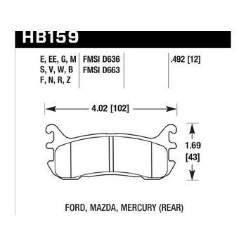 Колодки тормозные HB159F.492 HAWK HPS