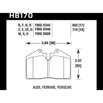 Колодки тормозные HB170R.650 HAWK Street Race; 17mm