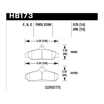 Колодки тормозные HB173F.570 HAWK HPS