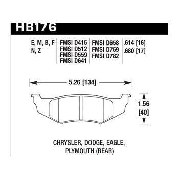 Колодки тормозные HB176N.614 HAWK HP Plus
