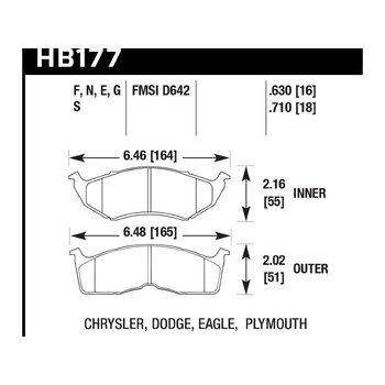 Колодки тормозные HB177N.630 HAWK HP Plus