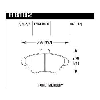 Колодки тормозные HB182F.660 HAWK HPS