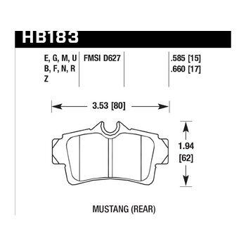 Колодки тормозные HB183N.660 HAWK HP Plus