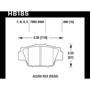 Колодки тормозные HB185N.590 HAWK HP Plus
