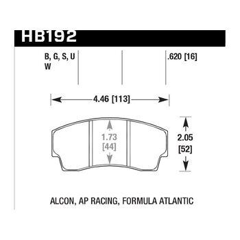 Колодки тормозные HB192B.620 HAWK HPS 5.0; 16mm