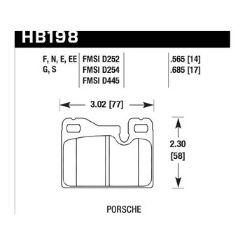 Колодки тормозные HB198F.685 HAWK HPS