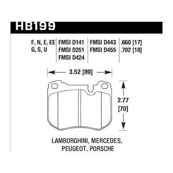 Колодки тормозные HB199N.702 HAWK HP Plus