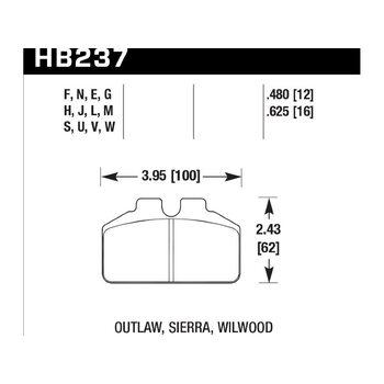 Колодки тормозные HB237N.625 HAWK HP Plus