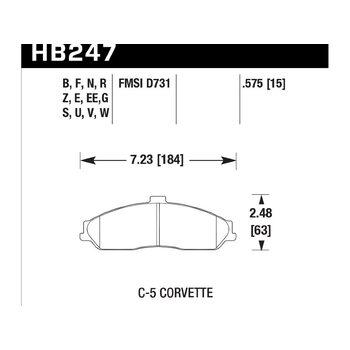 Колодки тормозные HB247N.575 HAWK HP Plus
