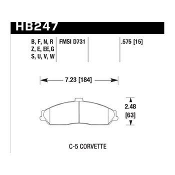 Колодки тормозные HB247Z.575 HAWK Perf. Ceramic