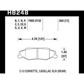 Колодки тормозные HB248N.650 HAWK HP Plus