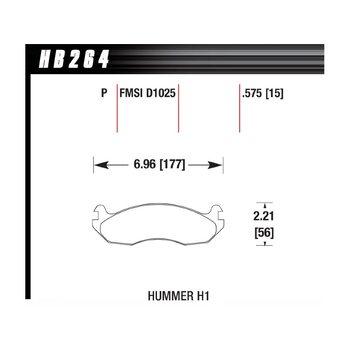 Колодки тормозные HB264P.575 HAWK SuperDuty; 15mm