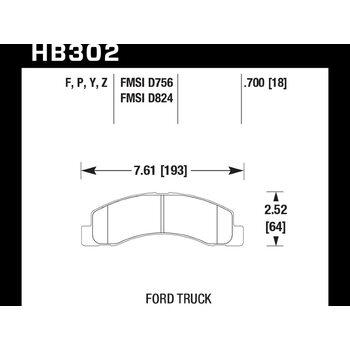 Колодки тормозные HB302Y.700 HAWK LTS