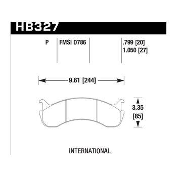 Колодки тормозные HB327P.799 HAWK SuperDuty