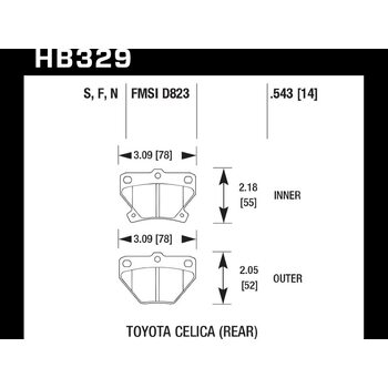 Колодки тормозные HB329F.543 HAWK HPS