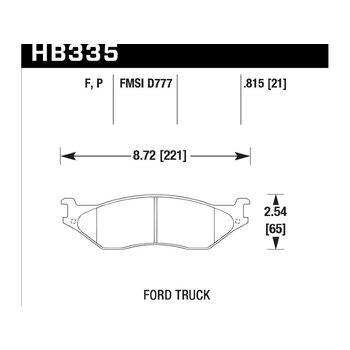 Колодки тормозные HB335P.815 HAWK SuperDuty