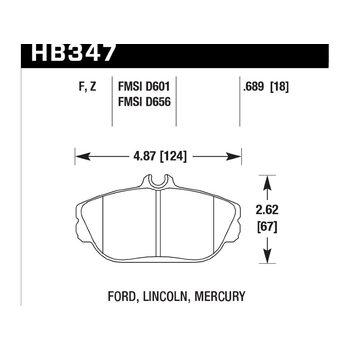 Колодки тормозные HB347F.689 HAWK HPS