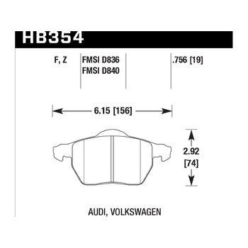 Колодки тормозные HB354Z.756A HAWK Perf. Ceramic