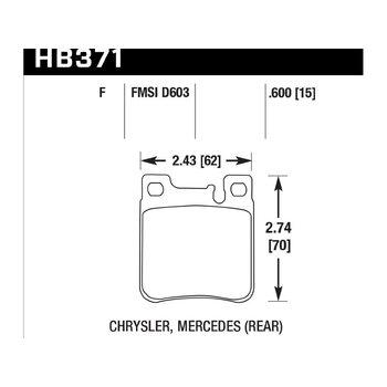 Колодки тормозные HB371F.600 HAWK HPS