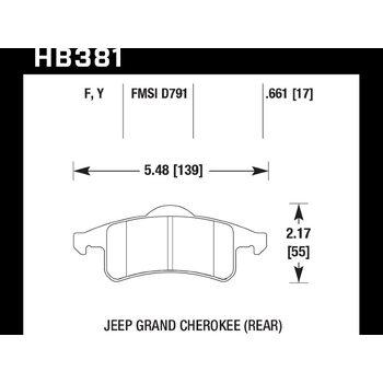 Колодки тормозные HB381Y.661 HAWK LTS