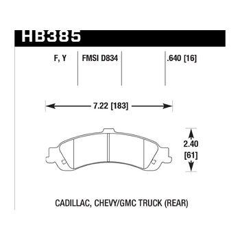 Колодки тормозные HB385Y.640 HAWK LTS