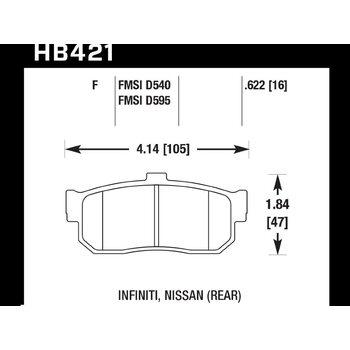 Колодки тормозные HB421F.622 HAWK HPS