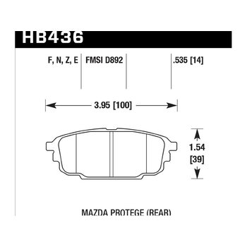 Колодки тормозные HB436F.535 HAWK HPS