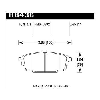 Колодки тормозные HB436N.535 HAWK HP Plus