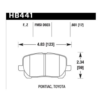Колодки тормозные HB441F.661 HAWK HPS
