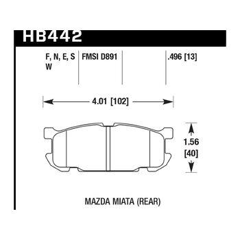 Колодки тормозные HB442F.496 HAWK HPS