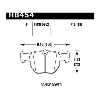 Колодки тормозные HB454F.715 HAWK HPS