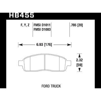 Колодки тормозные HB455Y.785 HAWK LTS