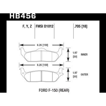 Колодки тормозные HB456F.705 HAWK HPS
