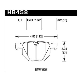 Колодки тормозные HB458B.642 HAWK HPS 5.0; 17mm