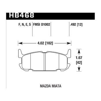 Колодки тормозные HB468N.492 HAWK HP Plus