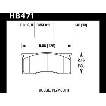 Колодки тормозные HB471N.510 HAWK HP Plus