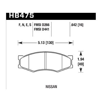 Колодки тормозные HB475F.642 HAWK HPS
