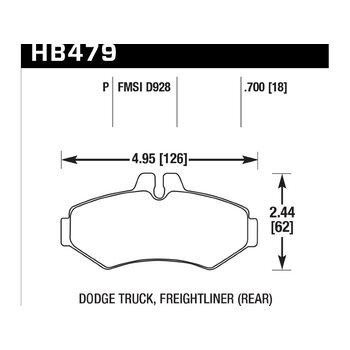 Колодки тормозные HB479P.700 HAWK SuperDuty; 18mm