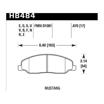 Колодки тормозные HB484R.670 HAWK Street Race